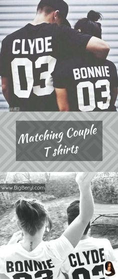 Couple Outfit quotes BONNIE and CLYDE Shirts For Couples Bonnie & Clyde Unique, funny, cute matching couple shirts for boyfriend and girlfriend, husband & wife! Matching Couple Outfits, Matching Couples, Matching Shirts, Bonnie And Clyde Shirts, Bonnie Clyde, Bonnie And Clyde Quotes, Girl Humor, Mom Humor, T-shirt Paar