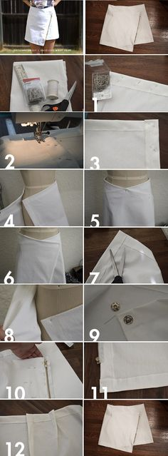 Easy to Make Envelope Wrap Skirt – DIY