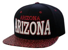 Amazon.com: The Grand Canyon State Arizona Snakeskin Flat Bill Snapback (Black/Red): Clothing
