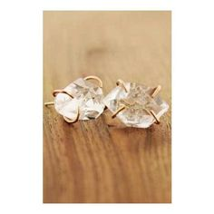 Melissa Joy Manning Herkimer Stud Earrings-14k Recycled Gold - Extra Large