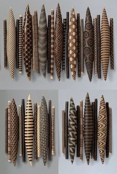 Domestic Markings by Kelly Jean Ohl (Ceramic Wall Sculpture) Ceramic Wall Art, Wood Wall Art, Wall Sculptures, Sculpture Art, African Interior Design, African Pottery, Painted Driftwood, Stick Art, Easy Art Projects