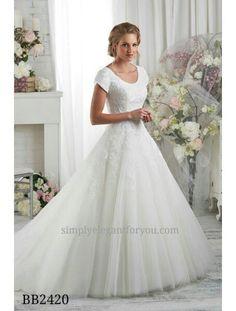 LDS wedding dress - ballgown