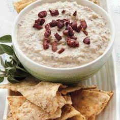 Kalamata-Garbanzo Hummus Recipe   MyRecipes.com