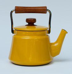 vintage Dansk enamelware teapot