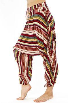 Buddha Pants - Red Stripes - Savanna Style