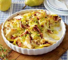 Das Rezept für Kartoffel-Birnen-Auflauf mit Speck und weitere kostenlose Rezepte auf LECKER.de