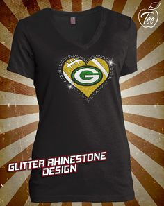 Green Bay Packers Rhinestone Glitter Bling by MasterPeaceDesigns Eagles  Bears cca72885a58b