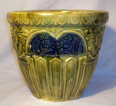 1927 Brush Pottery Blended Glaze Satyr Jardiniere