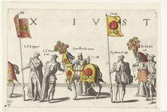 Deel van de optocht, nr. 16, Joannes van Doetechum (I), Lucas van Doetechum, Hieronymus Cock, 1559