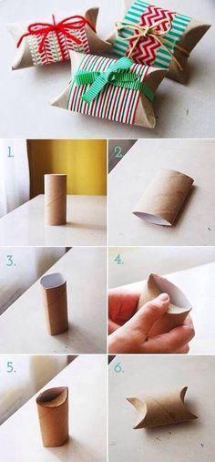 Päckli aus Toilettenpapierrollen