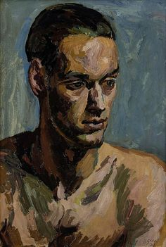 portrait of a young man, 1938 by Duncan Grant (Scottish 1885-1978)