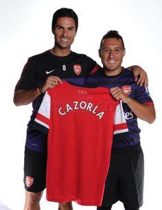 Santi and compatriot Mikel Arteta. Arsenal Goal, Mikel Arteta, Flight Deals, Soccer Stars, Archive, News, Gallery, Cover, Summer