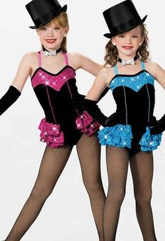 WHOLESALE ORDERS ONLY!!! Amazing costume for any age!! This typical Broadway costume features a black bodice with sequin top section and a little frill skirt also decorated with sequins. Black gloves