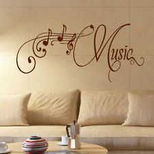 LARGE MUSIC ROOM WALL QUOTE GIANT ART STICKER TRANSFER DECORATION DECAL STENCIL