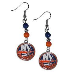 NHL New York Islanders Fan Bead Dangle Earrings