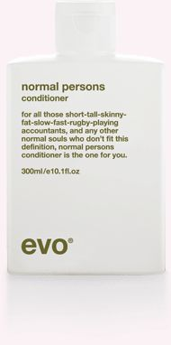 The Minimalistic packaging from EVO Hair Products with zesty product descriptions.