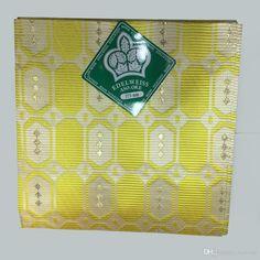 Yellow Edelweiss Aso-oke African Headtie,African Aso Oke Headtie for Head Wraps…