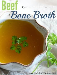 "Beef Bone Broth, sometimes called beef stock, is a ""must-have"" superfood! Like most foods, once you try homemade Beef Bone Broth or Beef stock, you will not want to settle for the store bought version again - Not only is it more flavorful but it is packed with nutrients!"