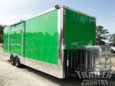 NEW 8 5 X 24 Enclosed Food Vending Mobile Kitchen Concession Catering Trailer Catering Trailer, Food Trailer, Catering Food, Custom Trailers, Trailers For Sale, Used Food Trucks, Concession Trailer For Sale, News 8, Bbq