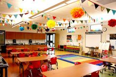Classroom rugs are essential to classroom management. As many classes aren't carpeted, your educational rug can be used as a spot for cooperative learning and engagement beyond your standard tables, chairs and desks. This rug and many others at:http://www.sensoryedge.com/collections/seating-rugs photo by: http://clutterfreeclassroom.blogspot.com/2011/07/group-meeting-areas-setting-up.html
