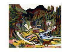 Landscape in Spring, Sertig, 1924-25 Giclee Print by Ernst Ludwig Kirchner at Art.com