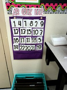 Ready to take an AR quiz? Put your number in line in the pocket chart.