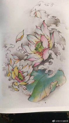 Ideas Lotus Flower Art Design Water Lilies For 2019 Japanese Tattoos For Men, Japanese Tattoo Art, Japanese Art, Japanese Lotus, Japanese Folklore, Japanese Prints, Flor Tattoo, Lotus Tattoo, Art Drawings Beautiful
