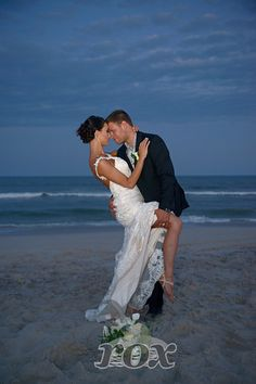 Sexy Sunset Tango on the beach after Assateague Island State Park wedding by Rox: https://www.roxbeachweddings.com/