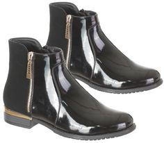 Ladies #womens chelsea ankle boots low heel new flat pull on zip #biker #shoes si,  View more on the LINK: http://www.zeppy.io/product/gb/2/222263069464/