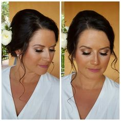 Bronze Beauty with a soft rosebud lippi for this stunning bride today! #bronzemakeupsession #bridalserviceswithaview #bridalmakeup #sunkissedmakeupsession #sugarandspicesalonspa #ginapetersenmakeup #glamsquad #makeupbyGina