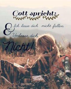 #Gott #spricht: #Ich #lasse #dich #nicht #fallen #und #verlasse #dich #nicht! Josua 1,5