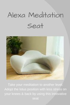 An unsual piece of furniture that has a role as a mediation seat. Helps people who struggle with the lotus position or have knee or back problems. Would make a really thoughtful gift for someone who practices meditation daily. Meditation Chair, Meditation Gifts, Meditation Cushion, Daily Meditation, Meditation Practices, Yoga Master, Lotus Position, Perfect Posture, Yoga Books