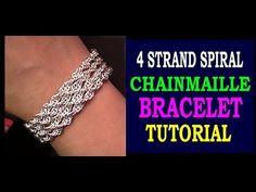 HOW TO MAKE A 4 STRAND SPIRAL CHAINMAILLE BRACELET | EASY TUTORIAL - YouTube