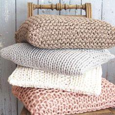 20 sugestões de almofadas de tricô