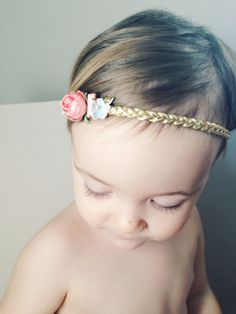 Gold Braided Headband Featuring Rhinestone and by potluckstore Dress Hairstyles, Spring Hairstyles, Boho Headband, Newborn Headbands, Color Feel, Boutique Bows, Girls Hair Accessories, Hair Bows, Braids