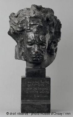Antoine Bourdelle, association ouvrière La Fonderie d'art Ludwig Van Beethoven en 1903 buste en bronze
