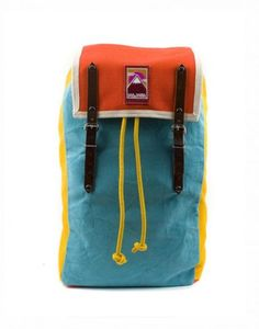 Backpack MbyY Tie Blue. via The Cools