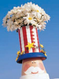 Uncle Sam flower pot