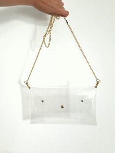 Ready To Ship Amazing Clear Clutch Transparent Bag Plastic See Trought Purse Stadium