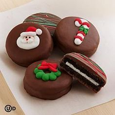 Christmas Chocolate Covered Oreo® Cookies with Santa