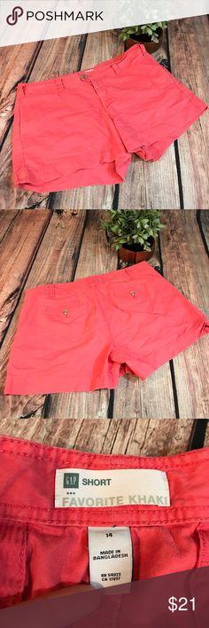 GAP favorite Khaki coral shorts Just in time for summer ! GAP favorite Khaki shorts. Used condition. GAP Shorts