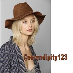 """Urban Outfitters Suede Panama Hat – Brown - NEW Urban Outfitters Suede Panama Hat – DETAILS: Retail $128 – Size: One Size - Color: Brown – Style #31264807 – By Seeing Stars – Boho panama hat in seriously soft suede. - Finished with a braided band around the crown. -  100% Suede (lined) - Spot clean- Imported - Circumference: 22"""" – Brand New without Tags Urban Outfitters Accessories Hats"""
