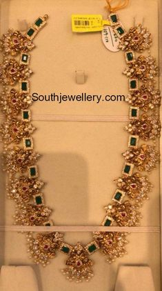 Indian Jewellery Designs - Page 2 of 1785 - Latest Indian Jewellery Designs 2020 ~ 22 Carat Gold Jewellery one gram gold Gold Haram Designs, Gold Earrings Designs, Italian Gold Jewelry, Real Gold Jewelry, Delicate Jewelry, Resin Jewelry, Diamond Jewelry, Indian Jewellery Design, Latest Jewellery