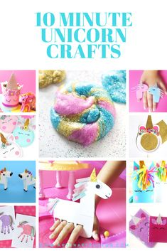 Make these popular 10 Minute Unicorn Crafts For kids today. These are the easiest and the prettiest Unicorn Crafts ever. Sure to be a hit with your little unicorns at home. Craft Make 10 Minute Unicorn Crafts For Kids For Some Magical Fun Crafts For Kids To Make, Crafts For Teens, Projects For Kids, Crafts To Sell, Diy And Crafts, Craft Projects, Arts And Crafts, Children Crafts, Kids Diy