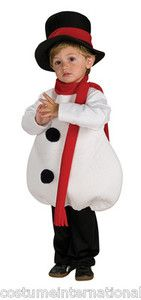 Snowman Costume Mascot Snow Man Christmas Frosty Santa Helper Toddler ...