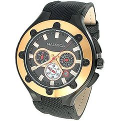 Men's Wrist Watches - Nautica Mens N28507G NCS100 Black Polyurethane Strap Chronograph Watch *** See this great product.