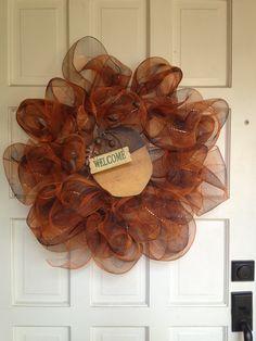 Fall deco mesh wreath #hobbylobby