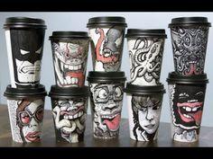 paper cup art - Tìm với Google
