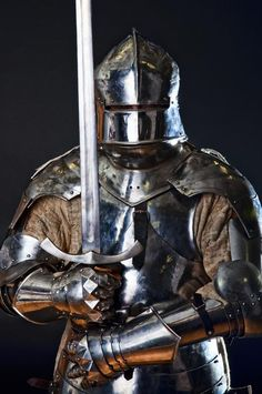 Find Medieval knights on grey background. Stock Images in HD and millions of other royalty-free stock photos, illustrations, and vectors in the Shutterstock collection. Good Knight, Knight Art, Knight Drawing, Armadura Medieval, Fantasy Armor, Medieval Fantasy, Larp, Medieval Knight Armor, Knight In Armor