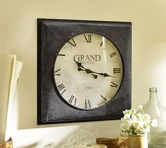 Grand Hotel Square Clock #potterybarn